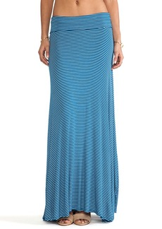 Rachel Pally Rib Full Long Skirt in Blue