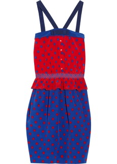 M Missoni Polka-dot silk-crepe dress