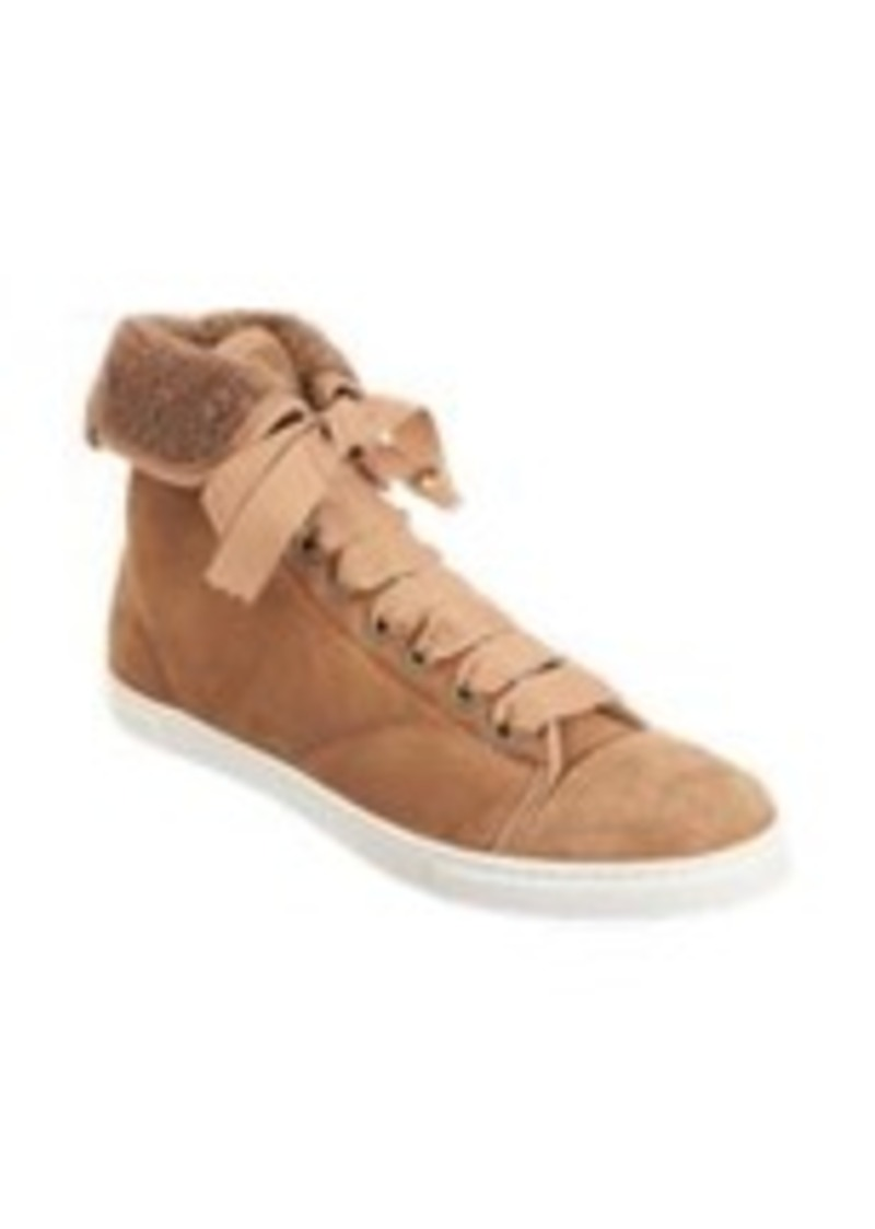 Lanvin Shearling Collar High Tops