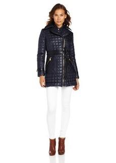 Via Spiga Women's Asymmetrical Lightweight Quilted Jacket