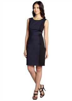 Elie Tahari navy and black colorblocked 'Margot' sheath dress