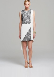 Robert Rodriguez Dress - Sleeveless Geo Lace Asymmetric Shift