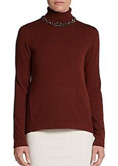 Brunello Cucinelli Beaded Turtleneck Sweater