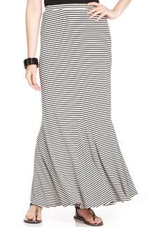 Style&co. Petite Striped Godet Maxi Skirt