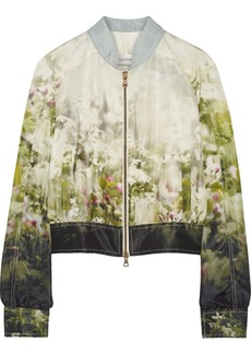 Valentino Printed silk-faille jacket