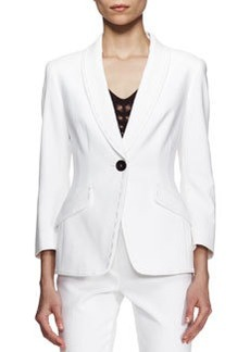 Escada Bracelet-Sleeve Jacket, White