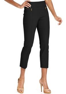 Style&co. Petite Zip-Pocket Pull-On Capri Pants