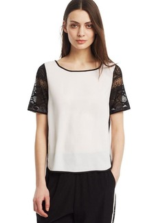Kenneth Cole New York Lace Sleeve Top