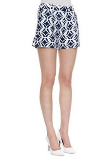 Diane von Furstenberg Napoli Printed Shorts, Batik Blue/White