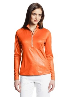 Cutter & Buck Women's Suntec Long Sleeve Leighton Mock Neck Top