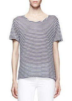 J Brand Ready to Wear Dekker Striped Silk Tee