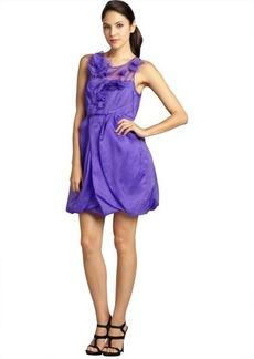 A.B.S. by Allen Schwartz violet silk chiffon sleeveless bubble dress