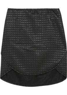 Tibi Paneled jacquard mini skirt