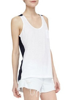 J Brand Jeans Gertrude Two-Tone Jersey Tank