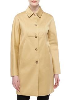 Michael Kors Sateen A-Line Coat, Sandstone