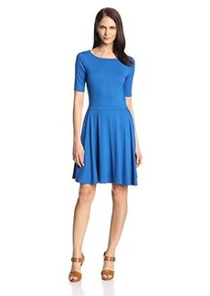 Three Dots Women's Half-Sleeve Boat-Neck Dress with Pockets