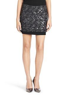 Elley Embellished Tweed Mini Skirt