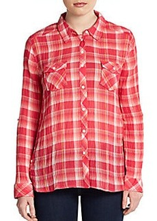 C&C California Western Mermaid Plaid Shirt