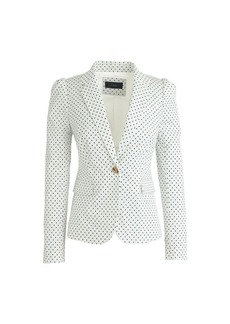 Puff-sleeve blazer in triangle dot