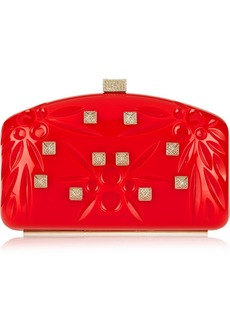 Valentino Studded embossed PVC clutch