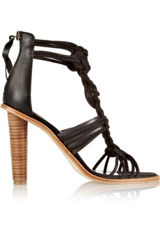 12th Street by Cynthia Vincent Jade braided brushed-suede and leather sandals