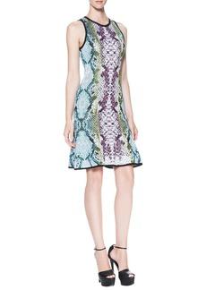 Roberto Cavalli Snake-Print Keyhole-Back Dress