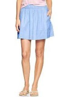 Pull-on mini-stripe skirt