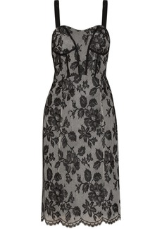 Jill Stuart Kasey lace-appliquéd tulle dress