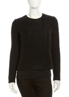 Robert Rodriguez Double-Breasted Crochet Sweater, Black