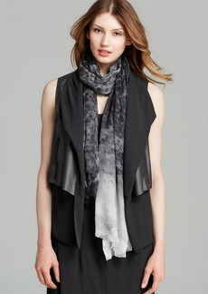 DKNY Pure Drape Front Leather Vest