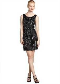 A.B.S. by Allen Schwartz black and silver sequined sleeveless u-back dress