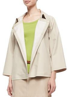 Lafayette 148 New York Reanne Bracelet-Sleeve Topper Jacket