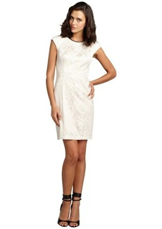 A.B.S. by Allen Schwartz ivory lace padded cap sleeve dress