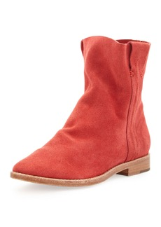 Joie Pinyon Suede Pull-On Bootie, Cerise