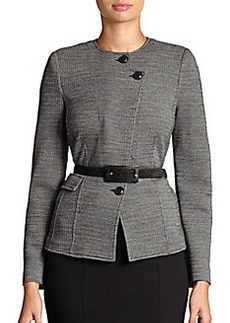 Armani Collezioni Woven Zigzag Jacket