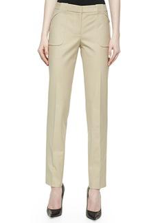 Michael Kors Eva Broadcloth Utility Pants, Hemp