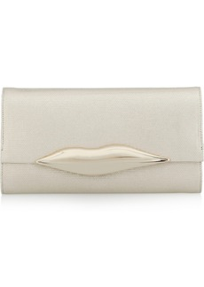 Diane von Furstenberg Carolina metallic canvas clutch