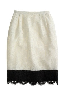 Collection colorblock lace pencil skirt