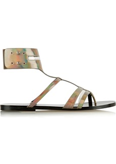 Sigerson Morrison Baker holographic patent-leather sandals