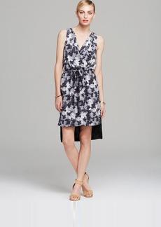 Robert Rodriguez Dress - Sleeveless Floral Print Midi Drawstring