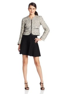 French Connection Women's Electric Check Boucle Jacket