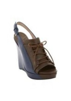 Derek Lam 10 Crosby GI Bi-Color Platform Wedge Sandals