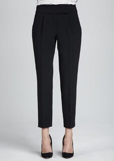 Structured Straight-Leg Cropped Trousers   Structured Straight-Leg Cropped Trousers