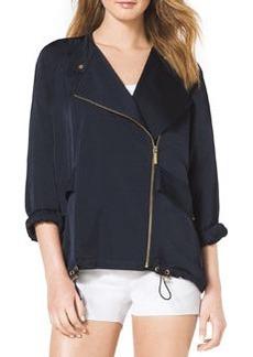 MICHAEL Michael Kors Oversize Front-Zip Jacket