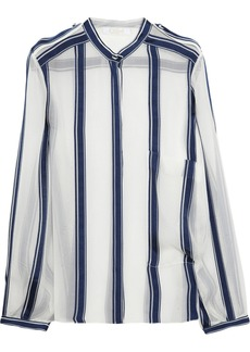 Chloé Striped silk-chiffon shirt