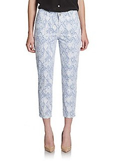 Lafayette 148 New York Curvy Ikat-Print Cropped Jeans