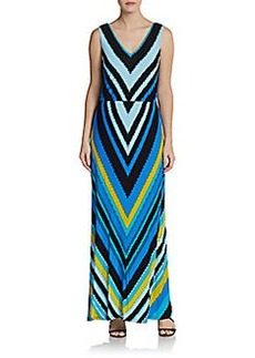 Calvin Klein Chevron Stripe Maxi Dress