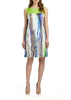 Elie Tahari Ginny Stretch-Silk Dress