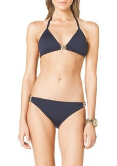 MICHAEL Michael Kors Triangle Bikini Top with Hardware