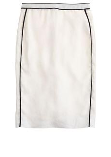 Pencil skirt in herringbone linen